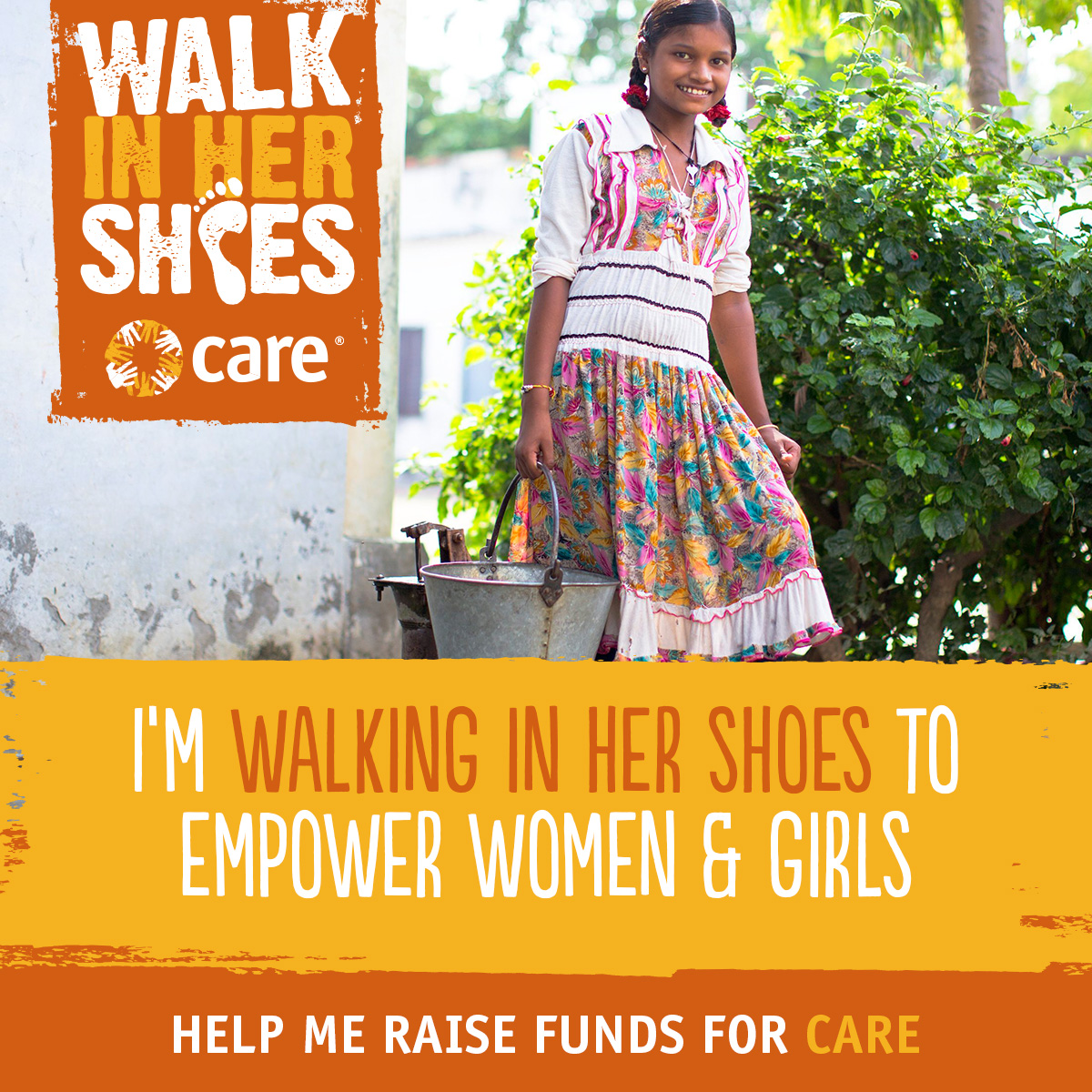 I'm walking in her shoes to empower women and girls