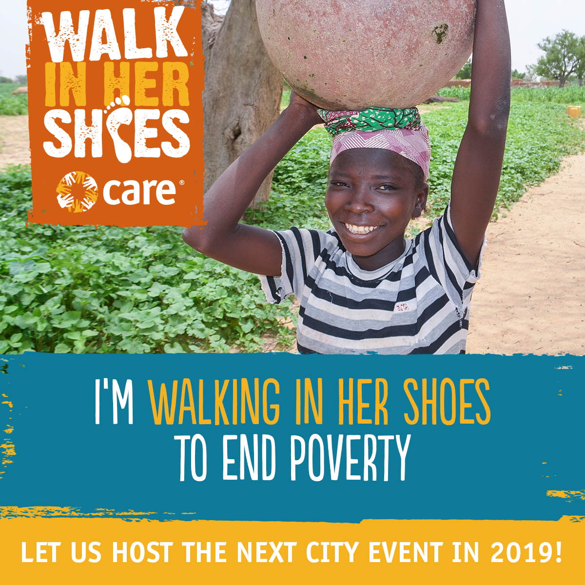 I'm walking in her shoes to end poverty!